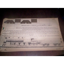 Locomotiva Antiga De Papel Para Montar Cmsp 2