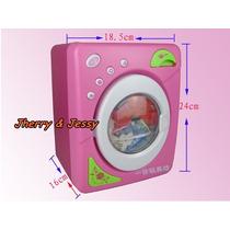 Maquina De Lavar Roupa Infantil Menina Com Assessorio