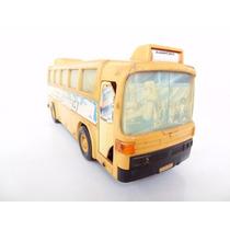 Antigo Brinquedo Onibus A Pilha!!! Lata Carro Fusca