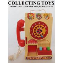 Brinquedo Antigo - Telefone Público - Glasslite - Promoção!