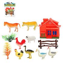 Animais Da Fazenda Com 8 Peças E Acessórios