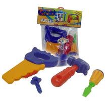 Kit Ferramentas Infantil Mecanico/ Mearceneiro 04 Peças