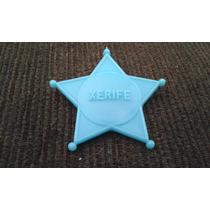 Brinquedos Antigos Estrela De Xerife Faroeste Plastico Azul