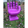 Cadeira Plastica Formata Mão Pequena Decorativa - Roxa