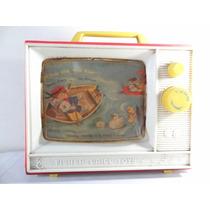 Antigo Brinquedo Tv Fisher Price Anos 60!!! Estrela Lata