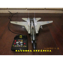 Avião Caça Kitty Hawk Controle Remoto Funciona 1990 Unico