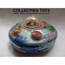 Brinquedo Antigo - Disco Voador De Lata - Made In Japan 60