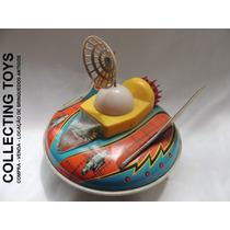 Brinquedo Antigo - Disco Voador De Lata - Estrela - Anos 60