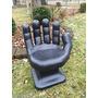 Cadeira Plastica Infantil Mão Pequena Decorativa - Preta