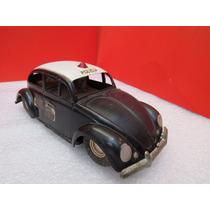 Estrela Antigo Carrinho Volkswagen Polícia Anos 50/60 Fusca