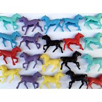 Super Kit Com 20 Miniaturas Cavalinhos Plastico Frete Gratis