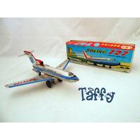 Avião Pequeno Em Lata Boeing 727 Pan Am Japonês Com Caixa