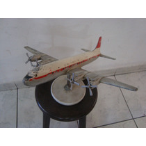 Antigo Avião De Alumínio Fundido - Douglas Dc 7 - Anos 50/60