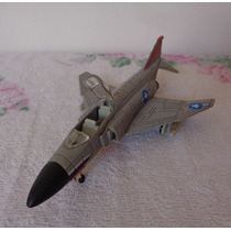 Miniatura Avião Caça Lança Missel De Plástico Rígido Antigo