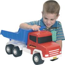 Caminhão Caçamba Twister Com Som - Adjomar Pronta Entrega