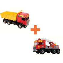 Caminhão Super Caçamba + Caminhão Super Bombeiro Oferta