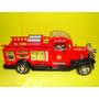 38cm Caminhão Bombeiro Vermelho Antigo Calhambeque Carro