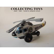 Brinquedo Antigo - Helicoptero De Lata Da Polícia (ghi)