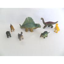 Dinossauros Miniaturas Em Pvc Lote Com 07 Unidades