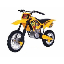 Moto Big Cross Trilha Amarela Cromada Bs Toys