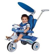 Triciclo Infantil Fit Trike Super Azul Estofado - Magic Toys