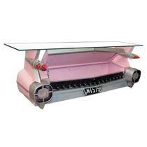 Aparador Réplica Traseira De Carro Rosa Oldway Em Metal