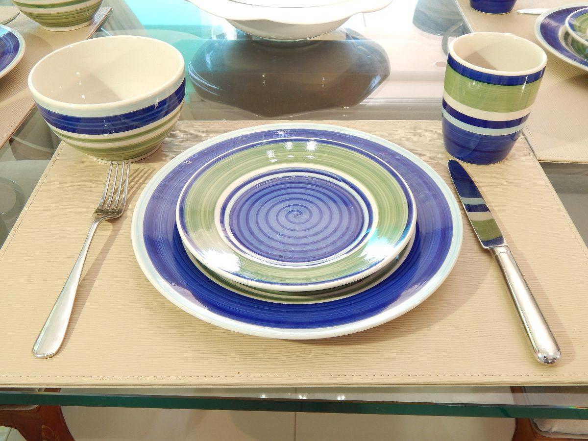Aparelho De Jantar Casambiente 16 Peças Em Cerâmica R$ 75 00 no  #2F387C 1200x900