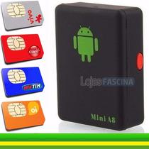 Rastreador Mini Localizador Escuta Gsm A8 Com Botão Sos A8