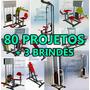 80 Projetos Maquinas De Academia + 3 Projetos De Brindes