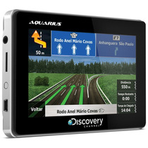 Gps Automotivo Aquarius Discovery Channel 4.3 Polegadas Slim
