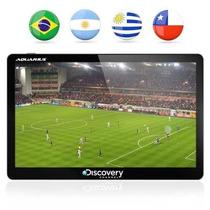 Gps Automotivo Aquarius Discovery Channel 5.0 Tv - Novo