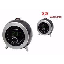 Rádio Relógio Fm Com Projetor Rf-233.n 110v