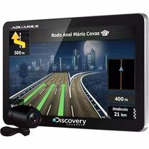 Gps Aquarius Discovery 4.3 Slim 3d Tv Cam De Ré Oportunidade