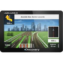 Gps Automotivo Discovery Channel 4.3 Slim 3d Gratis Sd 8gb