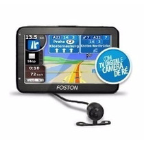 Gps Foston Com Tv Digital + Câmera De Ré + Bluetooth + Trans
