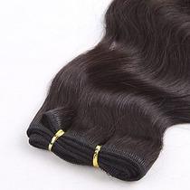 Cabelo Humano Costurado Para Mega Hair Castanho Escuro