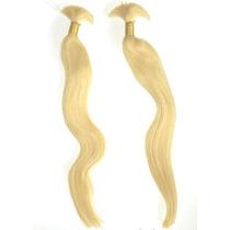Cabelo Humano Loiro Claro Para Mega Hair 60cm 100 Gramas.