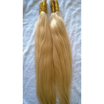 Cabelo Humano Loiro Claro Para Mega Hair 70cm 50 Gramas.