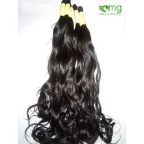 Cabelo Humano Natural P/mega Hair Leve Ondas 50 Cm 100 Grama