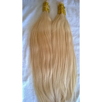Cabelo Humano Loiro Claro Para Mega Hair 70cm 100 Gramas.