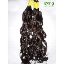 Cabelo Humano Natural P/mega Hair Leve Ondas 70 Cm 50 Gramas