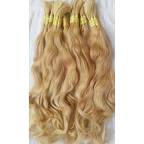 Cabelo Humano-mega-hair Loiro Claro Ondulado 70cm 100 Gramas