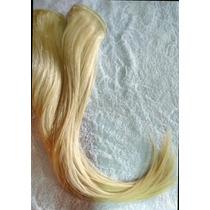 Cabelo Humano Loiro Descolorido Tela 50 Gr 50 Cm-mega Hair