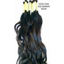 Cabelo Humano Liso Ondulado De 60cm 200 Gramas P/ Mega Hair.
