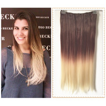 Alongamento Aplique Tictac Californiana Ombré Hair Liso 60cm