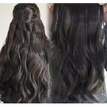 Cabelo Mega Hair Aplique Tic Tac Fibra, Chapinha E Secador