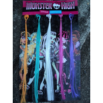 Kit Com 5 Mechas Coloridas Monster High Draculaura Original