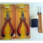 Kit Para Mega Hair 2 Alicates + 500 Microlink + 2 Agulhas