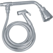 Chuveiro Com Ducha E Desviador P/ Banheiro Metal Cromado