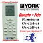Controle Remoto Ar Condicionado Split York Quente/frio